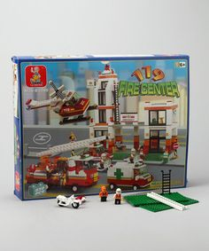 Take a look at this Firefighter Headquarters Blocks Set by Sluban on #zulily today!