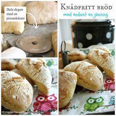 Madame Edith - Enkla recept och Klassisk inredning: Knådfritt bröd med endast en jäsning