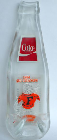 FLORIDA GATORS 1984 SEC Vintage Bottle Slumped by becadesigns, $20.00