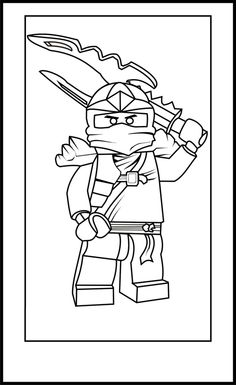 Lego Ninja Go Coloring Pages 9