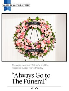 "I saw this in """"Always Go to The Funeral"""" in Reader's Digest October 2014-Released iPad."