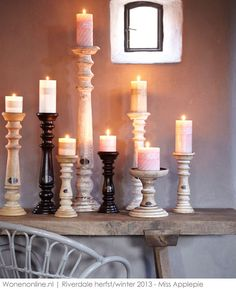 Candles and candlesticks from Riverdale Candle Store, Candles, Candle Holders, Old Candles, Candlelight, Candle Lanterns, Luxury Candles, Home Candles, Candle Decor