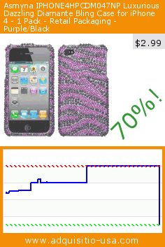 Asmyna IPHONE4HPCDM047NP Luxurious Dazzling Diamante Bling Case for iPhone 4 - 1 Pack - Retail Packaging - Purple/Black (Wireless Phone Accessory). Drop 70%! Current price $2.99, the previous price was $9.99. http://www.adquisitio-usa.com/asmyna/iphone4hpcdm047np