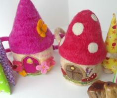 Twig Studio Kids Waldorf Toys ~ how fun!! a mushroom doll house! so cute!