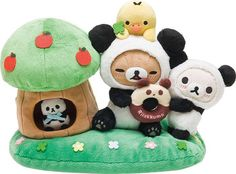 Limited edition Rilakkuma panda collection (^◇^;)