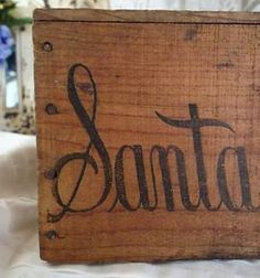 Antique Santa Clara Prunes Fruit Wooden Box Primitive Advertisement | Vintageblessings