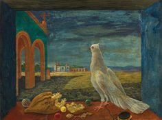 Septiembre. La paloma, óleo sobre masonite, s.f., Manuel González Serrano.