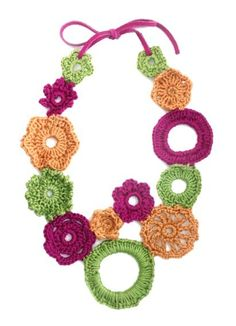 Flower Power Crocheted Necklace £30.00