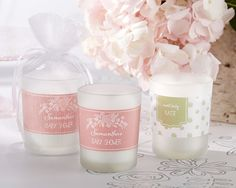 Personalized Frosted Glass Votive - Rustic Baby Shower Collection