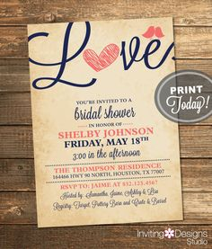 Hey, I found this really awesome Etsy listing at https://www.etsy.com/listing/179218476/bridal-shower-invitation-love-birds