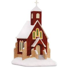 O Holy Night Church Musical Ornament ($20) ❤ liked on Polyvore featuring home, home decor, holiday decorations, holiday window decorations, church stain glass, music home decor, cross home decor and church ornament