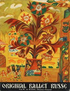 "Illustration by Nathalie Gontcharova for ""Coq D'or"".  Ballet Russe, 1 9 4 0-4 1, National Gallery of Australia."