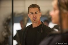 We got our hands on some never-before-seen photos from Insurgent that are super hot! Divergent Memes, Divergent Fandom, Divergent Trilogy, Theo James, Theodore James, Miles Teller, Divergent Insurgent Allegiant, Tv Show Music, Veronica Roth