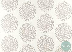 Laura Ashley, Coco Dove Grey Floral Wallpaper