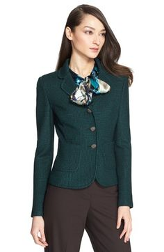 St. John Collection Matte Shine Knit Jacket available at #Nordstrom