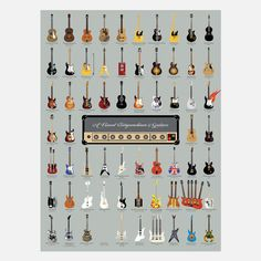 A visual compendium of guitars from over 75 years of rock & roll history.