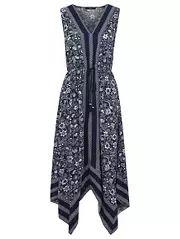 Hanky Hem Printed Dress