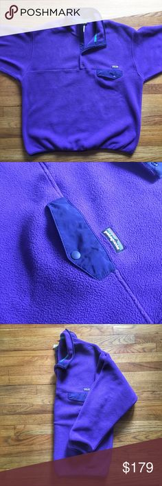 NWOT Patagonia Snap-T Fleece Pull-over Jacket Patagonia Snap-T Fleece Pull-over Jacket - XL - New. w/out Tags.  Colors are purple, blue and green.  Never worn.  Brand new.  See something you like but it's not here next week? We sell in store and across multiple platforms, so items go quick! If you're interested, act on it before you lose it! Patagonia Jackets & Coats