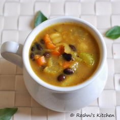 Vegan Black Bean and Vegetable Soup