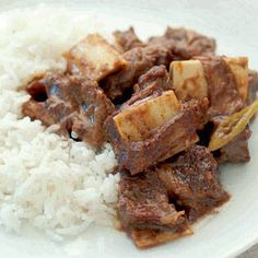 Beef Short Ribs Adobo with Coconut Cream.