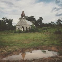 Old church down a one lane road in Alabama #alabama #countrychurch #abandoned…