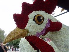 Bloemencorso - Zundert - Holland - Chicken And Egg by Leo Roubos
