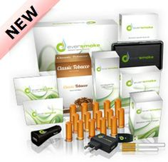 EverSmoke electronic cigarette starter kit. EverSmoke offers many battery options (type, size, color) and great vapor.