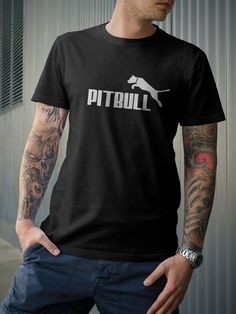 Pitbull Dog Spiked Colar Terrier Puma Parrody T-Shirt by 21street