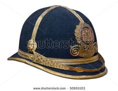 Austrian Empire military helmet World War I period isolated over white, Clipping path included.