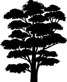 Oak Tree Clip Art - - Oak Tree Digital Image - Tree Graphic for Iron on Transfer for Fabric, Pillows, Towels, Scrapbooking & Crafts Stencils, Stencil Art, Stencil Designs, Silhouette Clip Art, Tree Silhouette, Girl Silhouette, Clipart, Imprimibles Baby Shower, Silhouettes