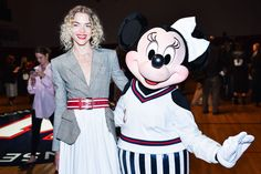 Jaime King and Minnie Mouse.