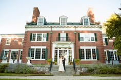 Get a photo in front of your venue.  Remember, the closer you are to the building, the smaller you will look in the photo.  Susanna and Paul's Joyful Wedding at the Bradley Estate » Fucci's Photos of Boston | Boston Wedding Photographer