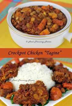 """Crockpot Chicken """"Tagine"""" l Meal Planning Maven's Blog #crockpotrecipes #sundaysupper If you love the amazing flavors of tagine cooking, this easy to make dish is for you!"""