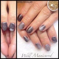 10 shades of gray.....#wellmanicured #nails #gel #lechat #dashingdiva #lightelegance #gelish #manhattanbeach #manicure #manicureaddict #gradient #naildesign #nailartist #beauty #grey #gray #gunmetal #trends #nailtrends #Padgram
