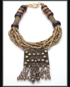 AMINA  Ethiopian Pendant  African Beads  by sandrawebsterjewelry, $288.00