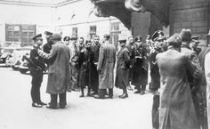 Eichmann and members of the Gestapo, before a raid on the Jewish Community Center, Vienna 1938