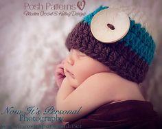 Crochet PATTERN - Easy Crochet Beanie Hat Pattern