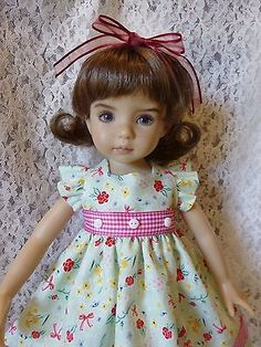 "Green 8-PC Doll Ensemble- 13"" Effner Little Darlings by RRS"
