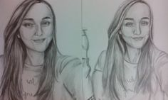 Portét pro přítelkyni mého spolužáka #art #drawing