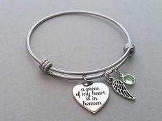 A Piece Of My Heart Is In Heaven Bracelet by PaperHouseDesigns