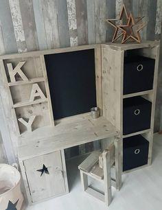 Handmade Furniture, Diy Furniture, Kids Table With Storage, Bois Diy, Kid Desk, Home Renovation, Kids House, Boy Room, Decoration