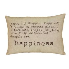 LNR Home Happiness Natural Tan 16 x 24 Accent Pillow - Overstock™ Shopping - Great Deals on Throw Pillows