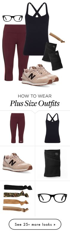"""""""Viola training"""" by deliag on Polyvore featuring Studio, Lorna Jane, New Balance, Glam Bands, Ray-Ban and SO"""