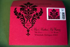 envelopes and custom stamps