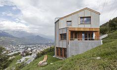 Holzhausen Zweifel Architekten - Family house, Salins 2014. Photos (C) Michael Blaser.