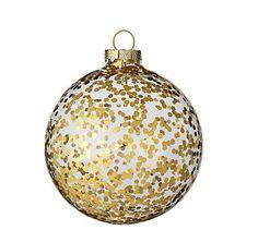 Gold Glitter Christmas Ornaments