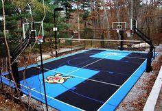 backyard basketball court | Designing An Outdoor Basketball Court With Flex Tiles