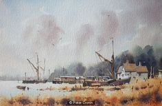 Pin Mill La Rive, Watercolor Paintings, Watercolour, Timeline Photos, St Joseph, Marines, Artists, Ideas, Watercolor