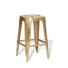 Vintage Brass Counter Stool