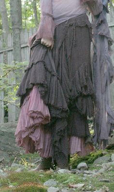 Pagan Skirts Wicca Witch:  Layers of ruffles.